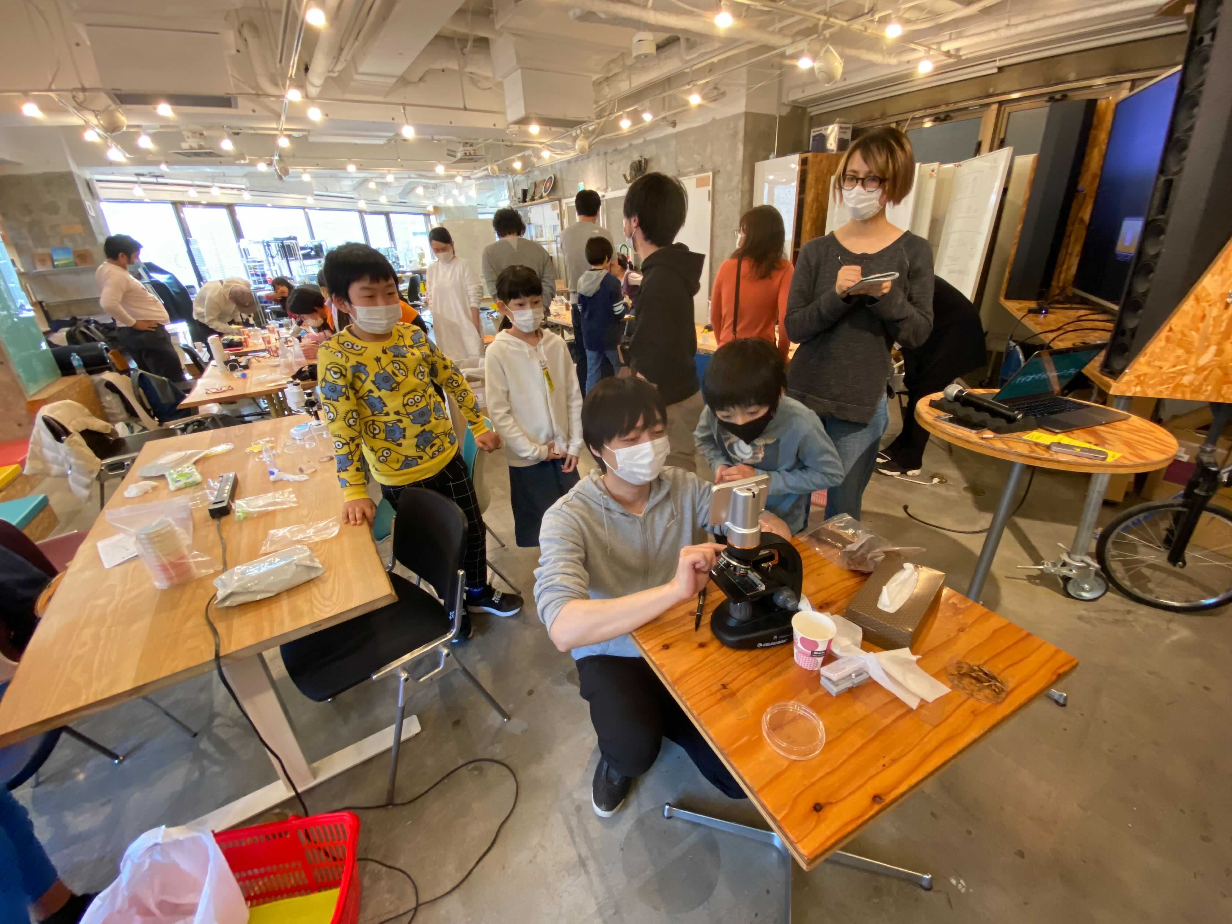 「微生物と自然へバイオダイビング in 渋谷 」ワークショップレポート